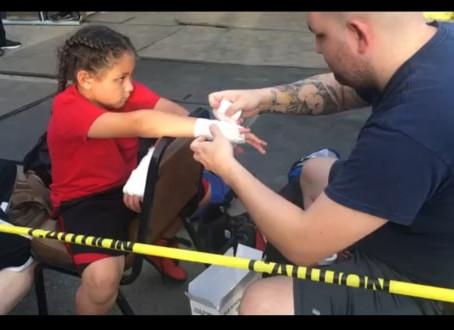 Little man boxing