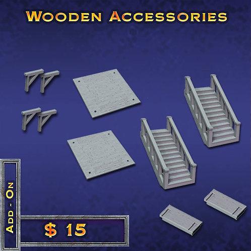 Wooden Accessories x 2