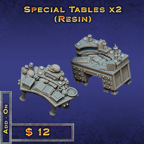 Special Tables x 2 - Resin