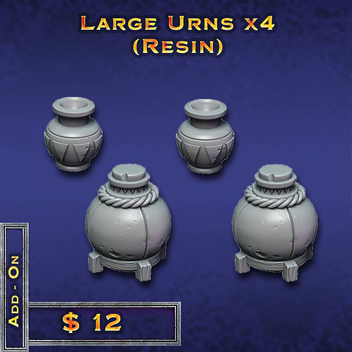 Large Urns x 4 - Resin