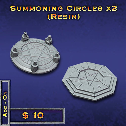 Summoning Circles x 2 - Resin