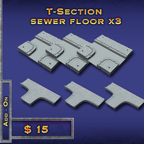 T-Section 3x Sewer Floor