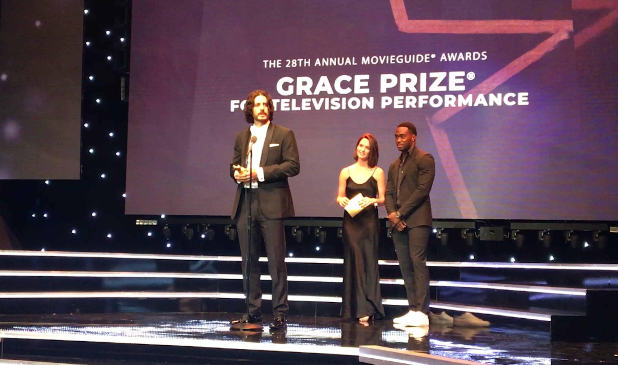 Receiving the 2020 Grace Prize for a Television Performance