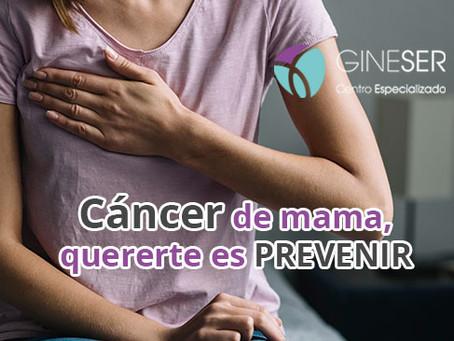 ¿Miedo al cáncer de mama? Quererte es prevenir