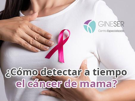 ¿Cómo detectar a tiempo el cáncer de mama?