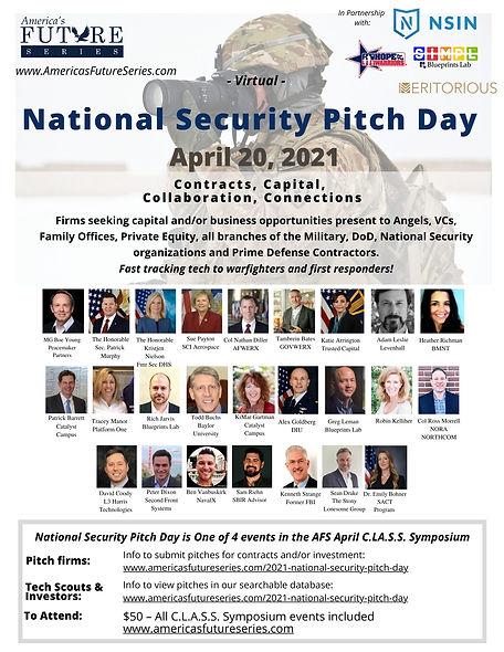 April 20,  2021 National Security Pitch