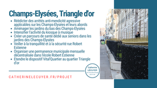[Le projet / quartier] Champs-Elysées, Triangle d'or
