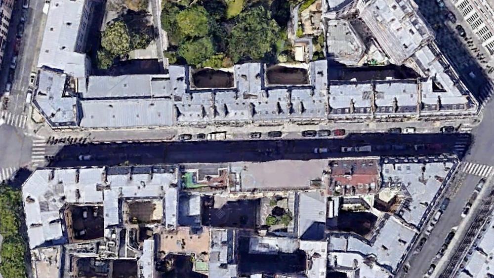 Le tronçon de la rue de la Bienfaisance concerné par le projet d'aménagement