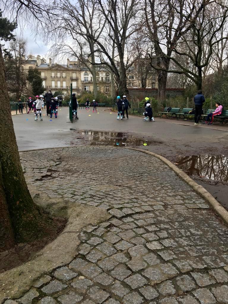 La piste de roller du parc Monceau