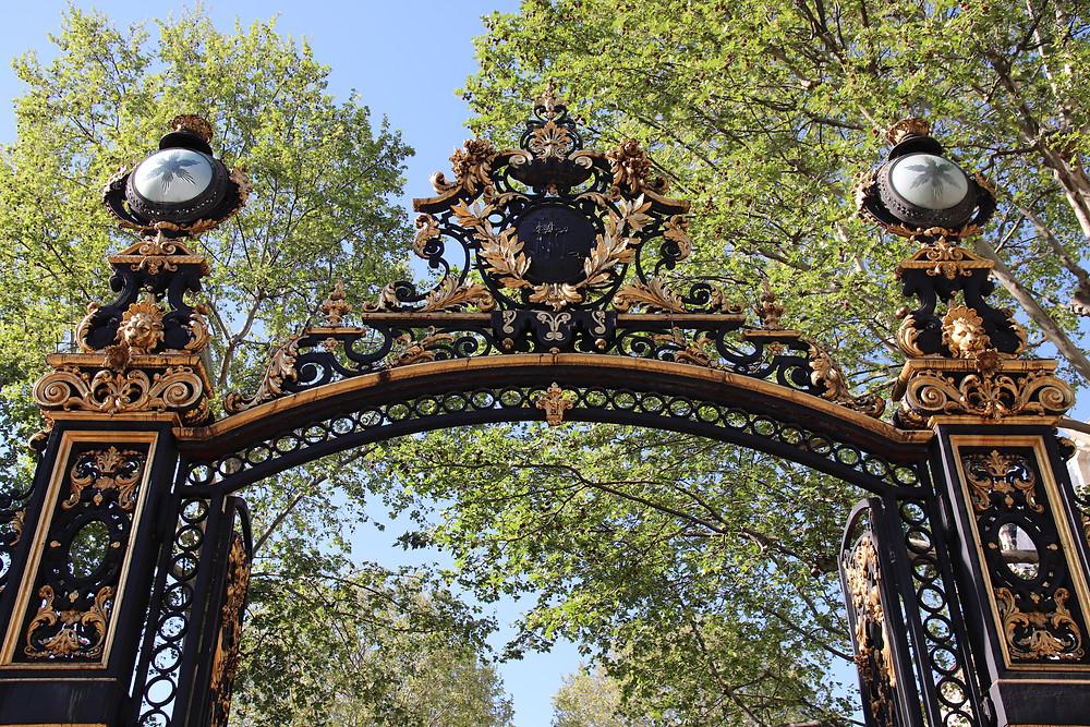 Les grilles monumentales du parc Monceau