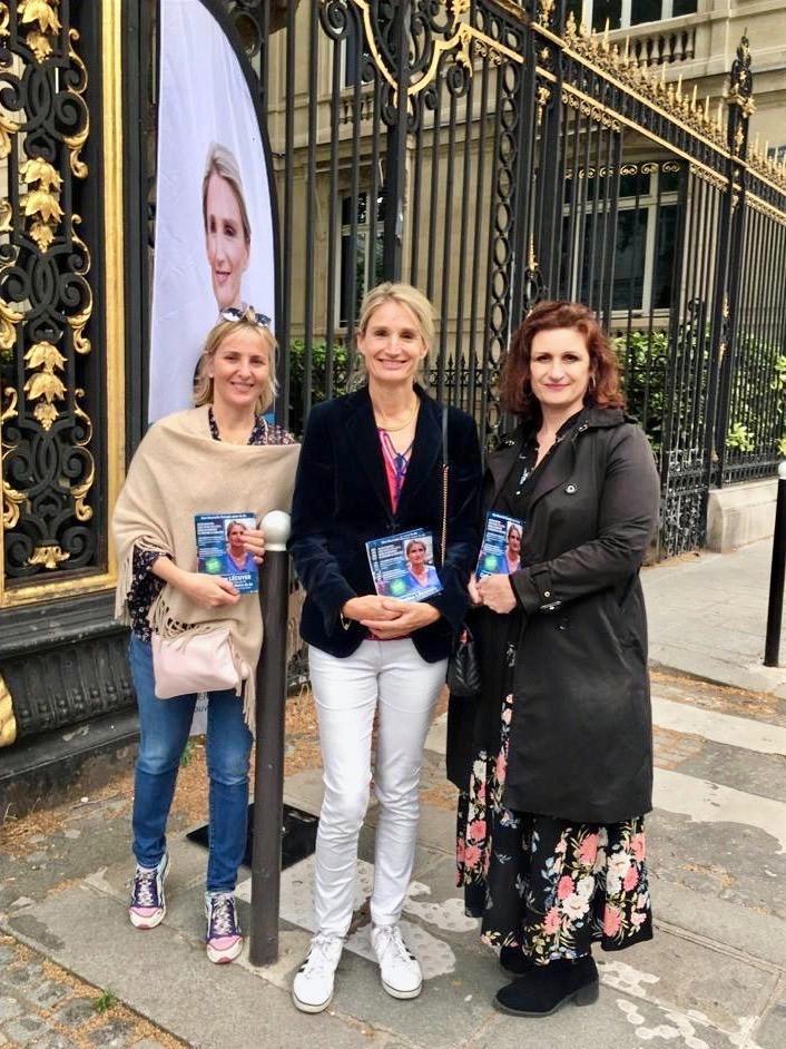 De gauche à droite : Stéphanie, Catherine et Hélène