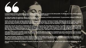 Le texte de l'appel du Général de Gaulle le 18 juin 1940