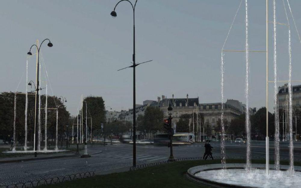 Projet de fontaines des Champs-Elysées