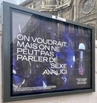 Une publicité Durex à quelques dizaines de mètres de l'école primaire de la Bienfaisance