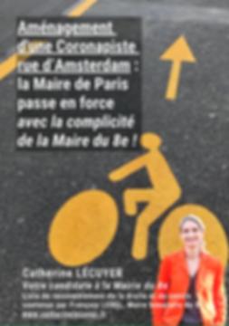 Coronapiste rue d'Amsterdam : la Maire de Paris passe en force avec la complicité de la Maire du 8e
