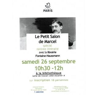 """📖 Avis aux amateurs : """"Le Petit Salon de Marcel"""" ce samedi"""