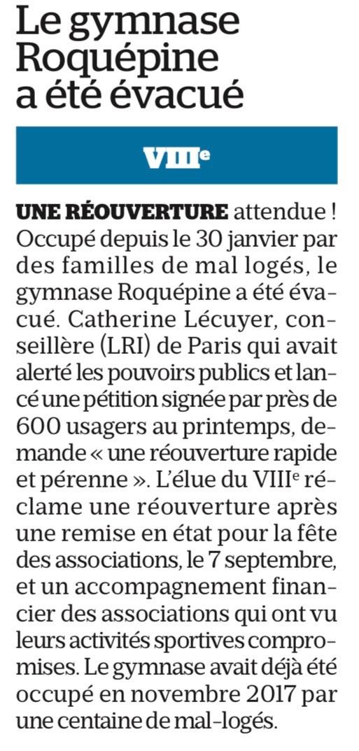 Le Parisien du 28 août 2019