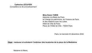 Lavatories de la Madeleine : la Mairie de Paris doit agir !