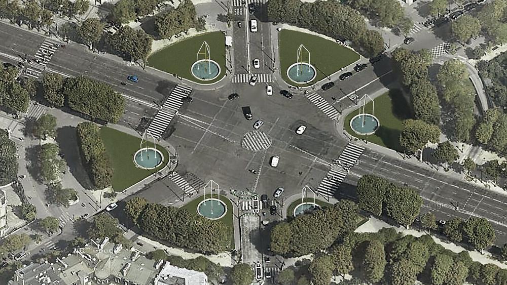 Le rond-point des Champs-Elysées Marcel Dassault