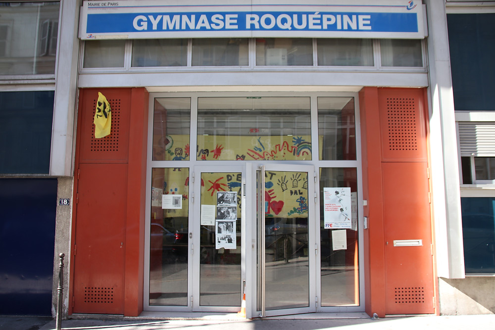 Le gymnase Roquépine encore occupé en juillet 2019