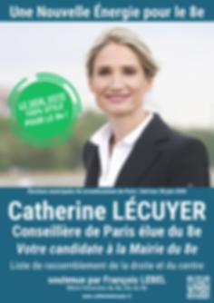 L'affiche électorale de Catherine LECUYER pour le 2nd tour du 28 juin 2020