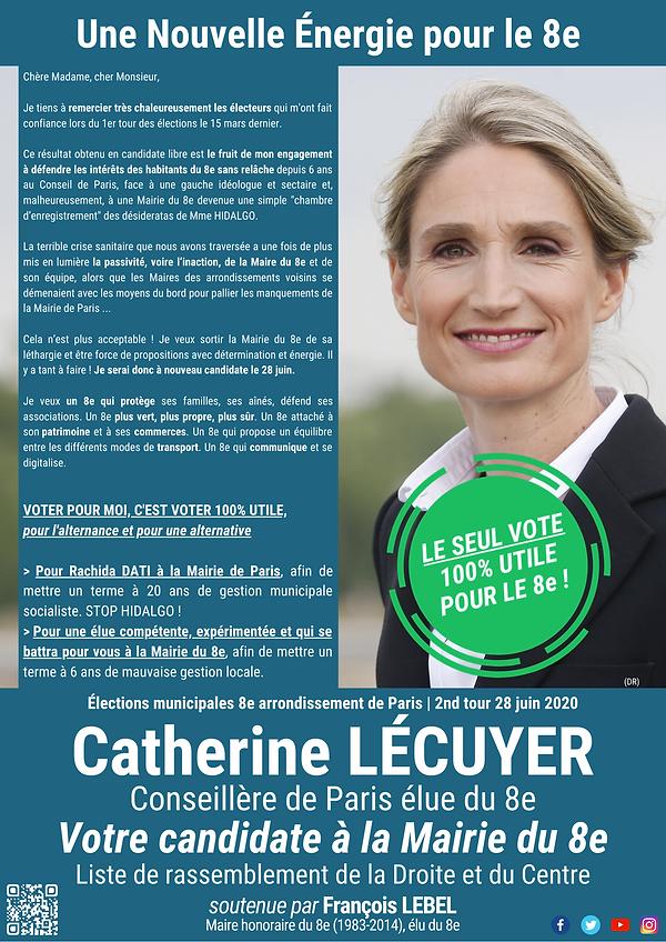 Circulaire de Catherine LECUYER pour le 2nd tour du 28 juin 2020