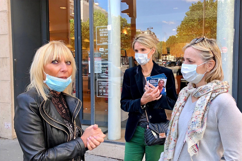 De gauche à droite : Josiane, Catherine et Stéphanie