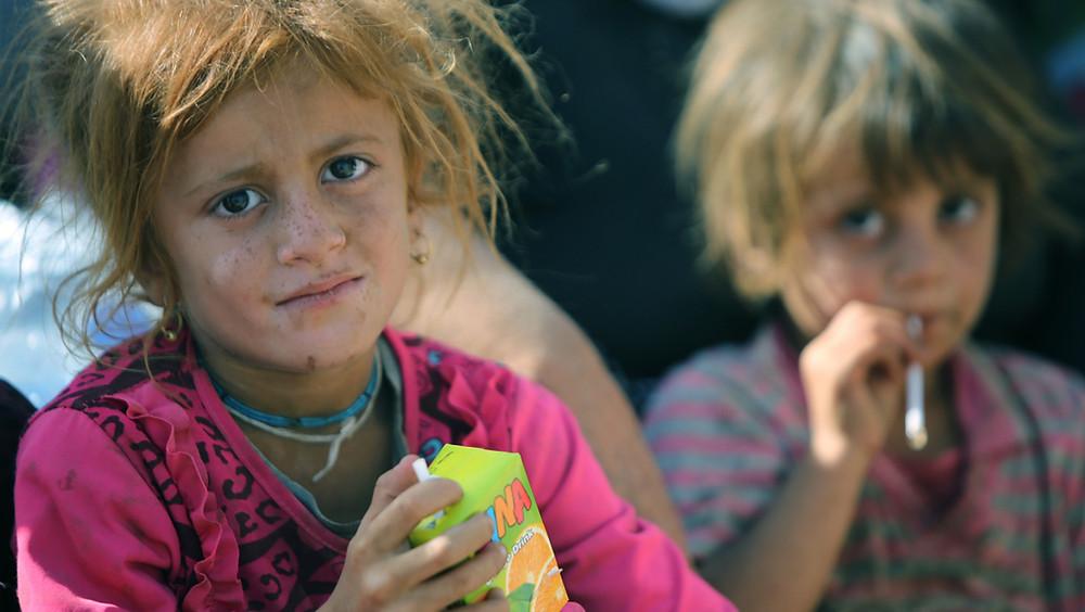 Enfant de la minorité yézidie en Irak
