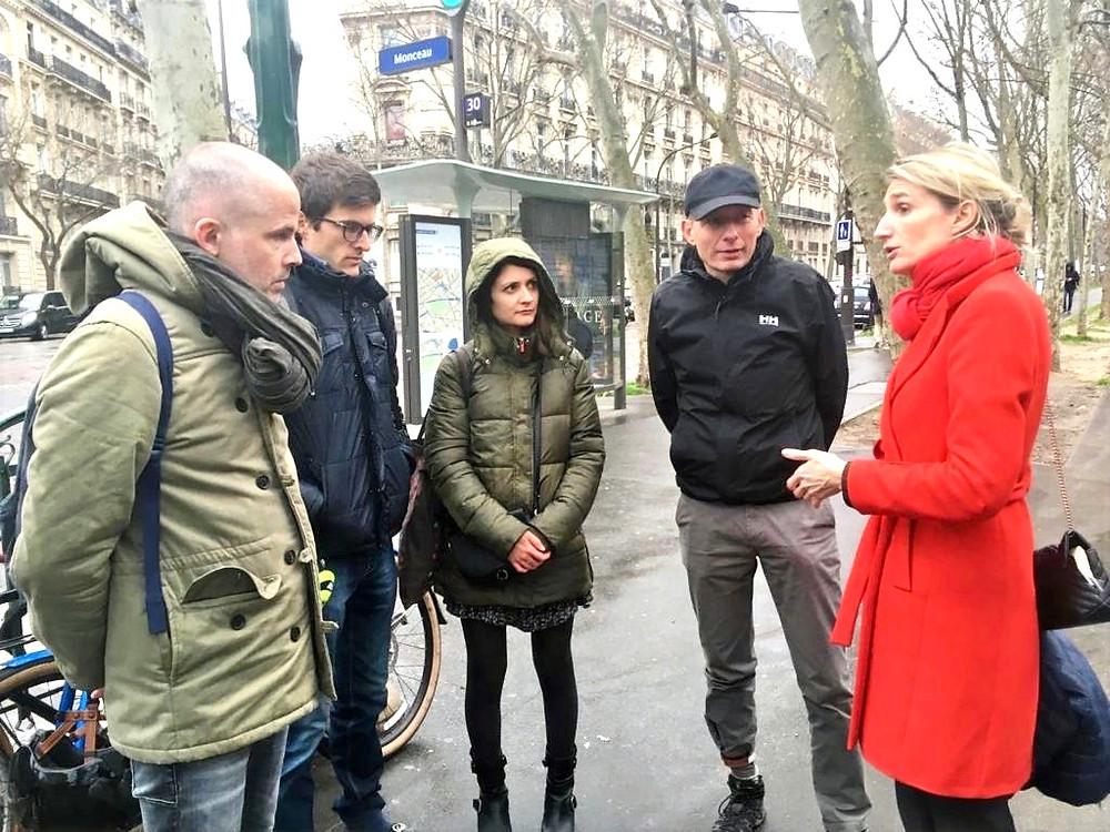 Avec des représentants des associations Paris en Selle et Mieux se déplacer à bicyclette