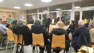 Bonne réunion publique à l'école Surène !