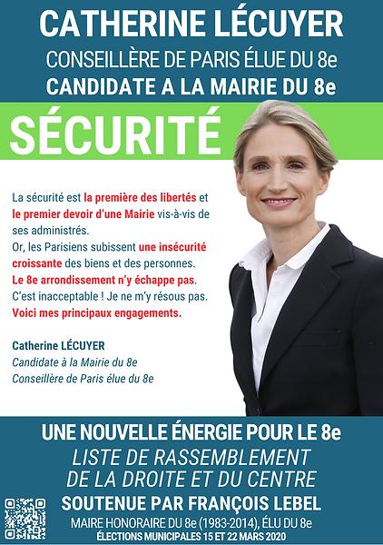 """Le tract """"sécurité"""" de Catherine LECUYER"""