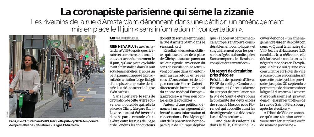Le Parisien du 18 juin 2020