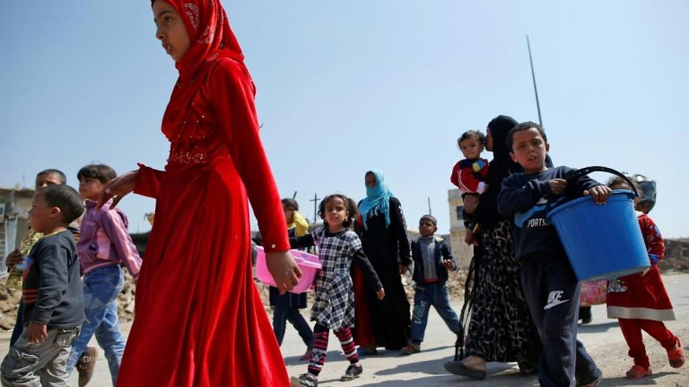 Déplacés à Mossoul en Irak