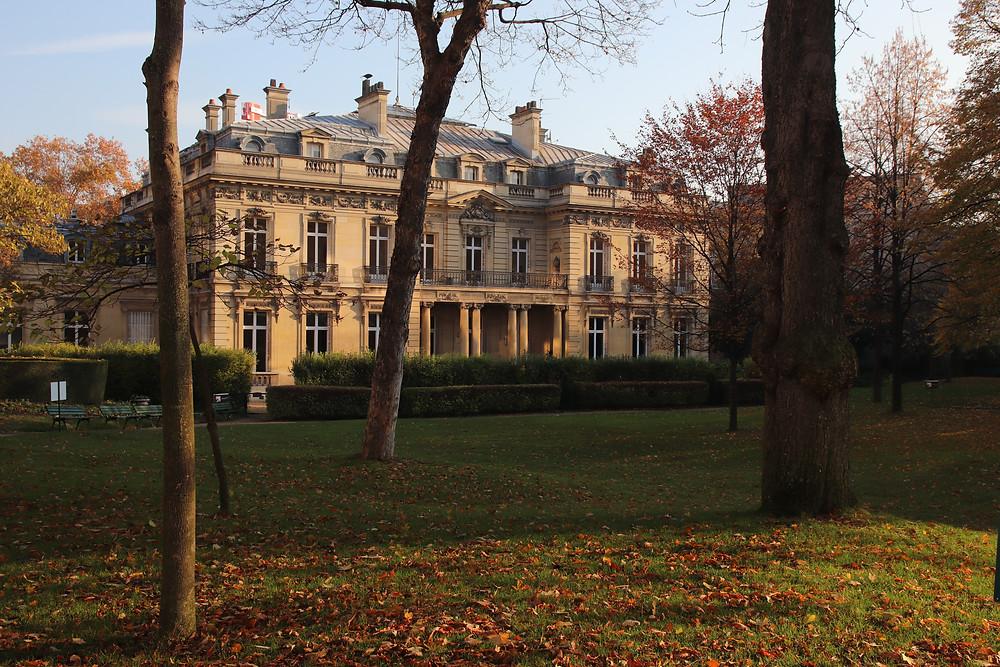 Le jardin public de l'Hôtel Salomon de Rotschild