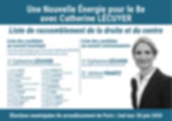 Bulletin de vote Catherine LECUYER pour le 2nd tour des élections municipales du 28 juin 2020