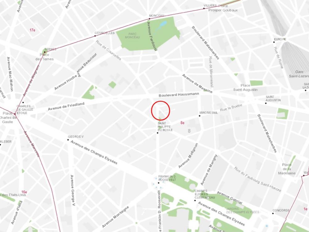 La localisation de la future place Théodore Chassériau