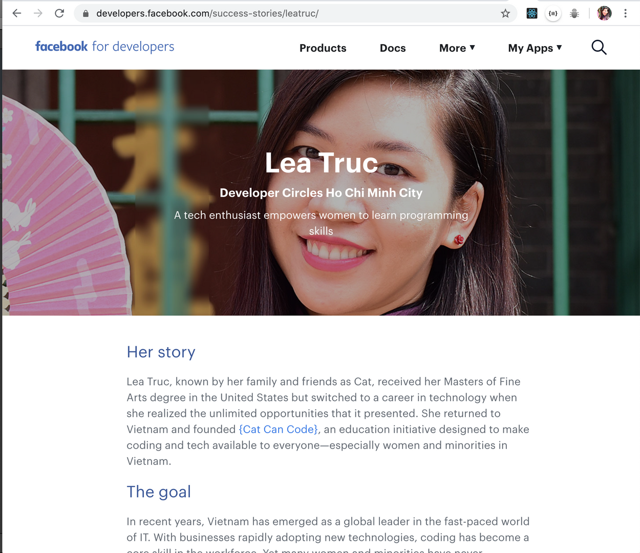 Featured on Facebook Developer Success stories