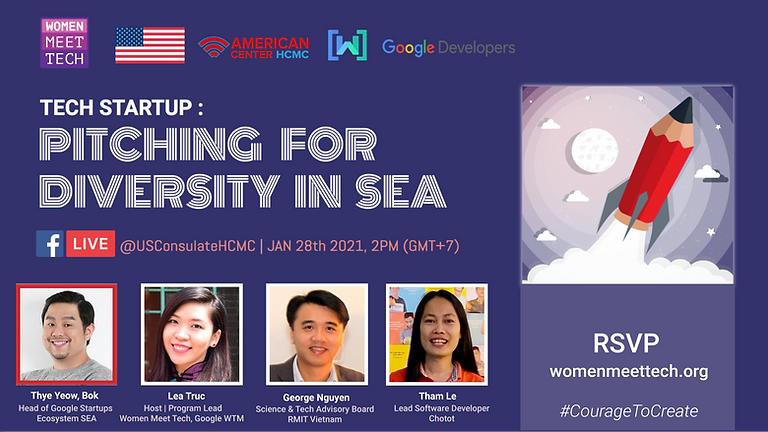 Tech StartUp: Pitching for Diversity in SEA