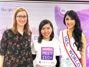 Lea & 2 foreigner attendees Mrs World 2018