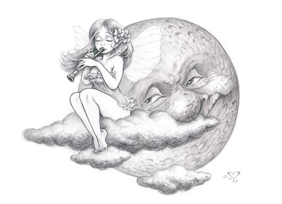 fée à la lune