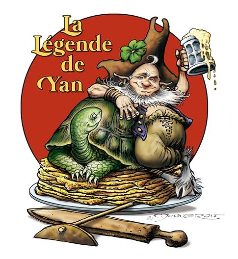 """Logo pour la crêperie de Lagnieu """"La Légende de Yan"""""""