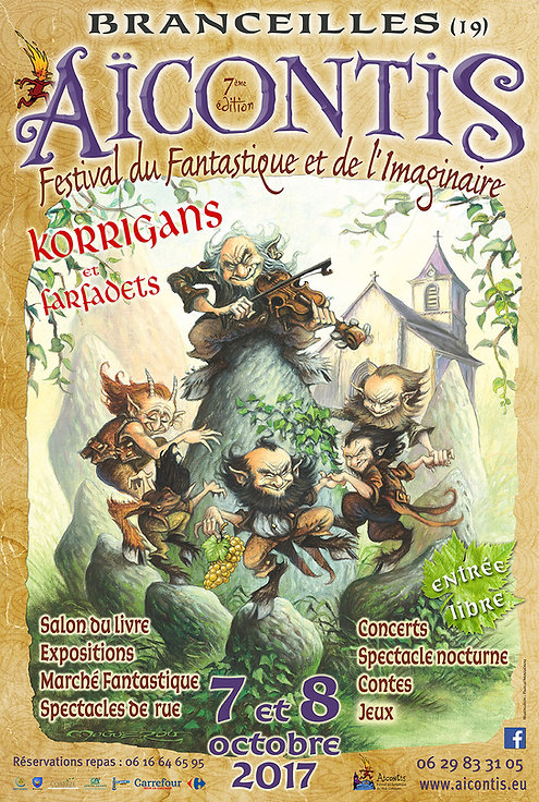 """Affiche pour le charmant festival      """"Aïcontis"""" en Corrèze"""