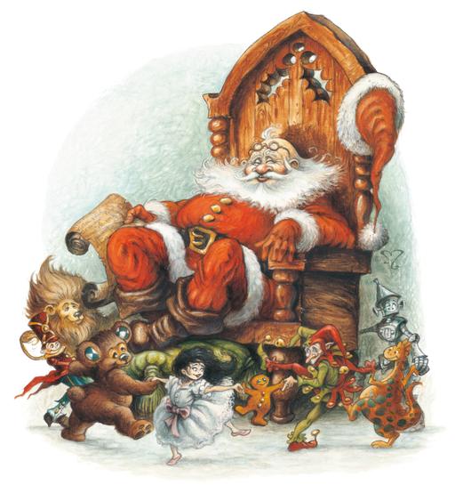 Santa et la ronde des jouets