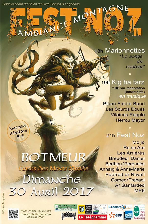 Affiche de Fest-Noz lors du salon du livre de Botmeur