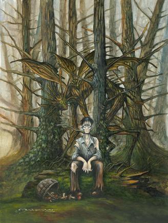 à l'orée de la forêt