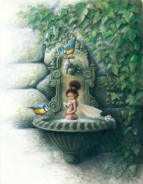 la fontaine aux mésanges
