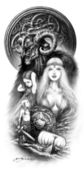 Deux dessins de tattoos que j'ai adoré réaliser sur le thème nordique Viking