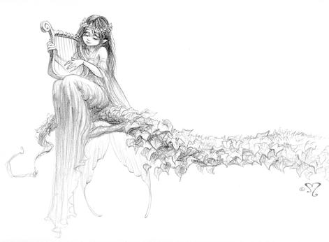 fée à la harpe