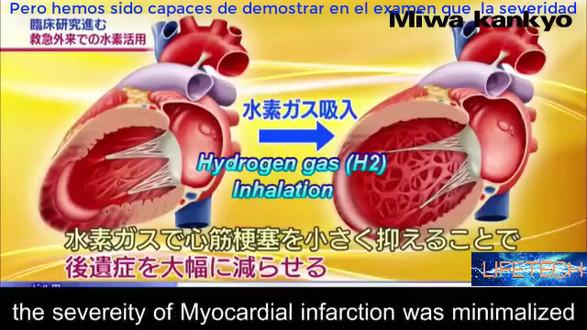 Передача японского ТВ, результат использования водородных ингаляций,