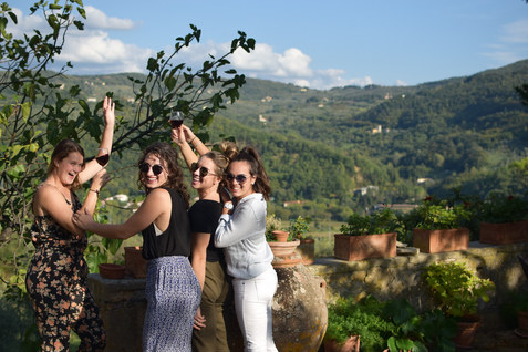 Enjoy Chianti in the Vineyard where it's made